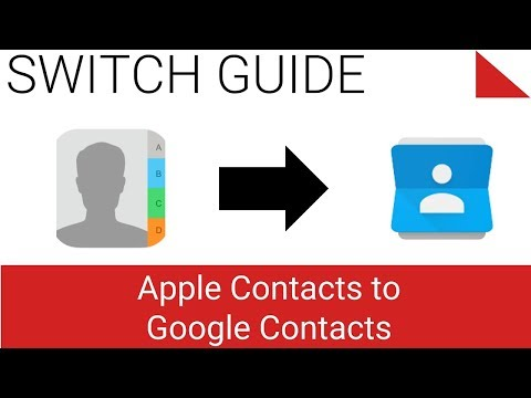 Apple iCloud Contacts to Google Contacts