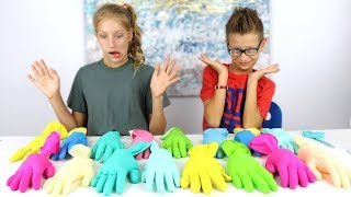 Don't Choose the Wrong Glove Slime Challenge!!!