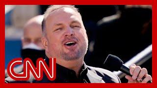 """Garth Brooks sings """"Amazing Grace"""" at Biden"""