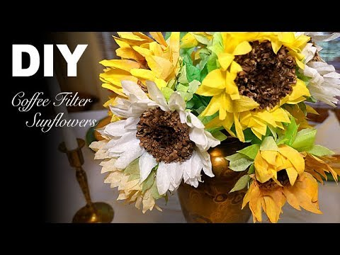DIY | Simple Realistic Sunflowers - Coffee Filter Flowers