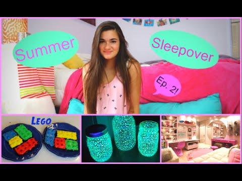 Summer Sleepover Ep. 2 - My Period, DIY Glow Jars & Lego Brownies!