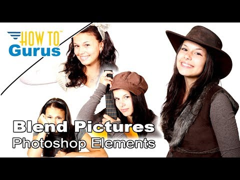 Photoshop Elements Blending Pictures Tutorial: Model Sheet Photo Collage in PSE 2018 15 14 13 12 11