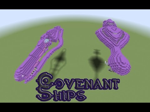 Minecraft- Halo Covenant Cruiser Ship