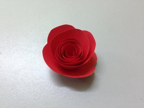 How to make small rose paper flower   Easy origami flowers for beginners making   DIY-Paper Crafts
