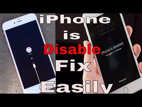 iphone is disabled connect to itunes Recover/Reset All Model Easily