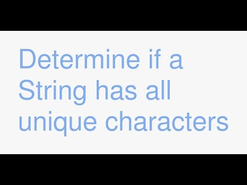 Java: determine if a String has all unique characters