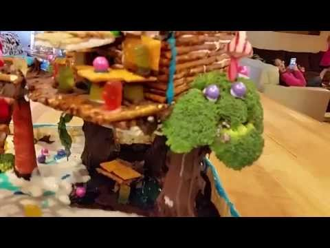 One of the best Gingerbread house ideas. Gingerbread treehouse