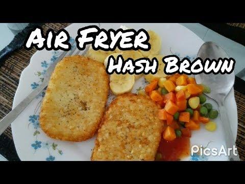 Fast Breakfast Idea, Air Fryer Hash Brown | HappilySimplified