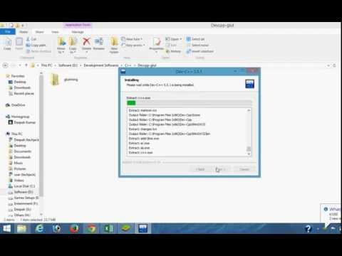 How to install glut in C++ on windows 7,8,8.1 in Devcpp