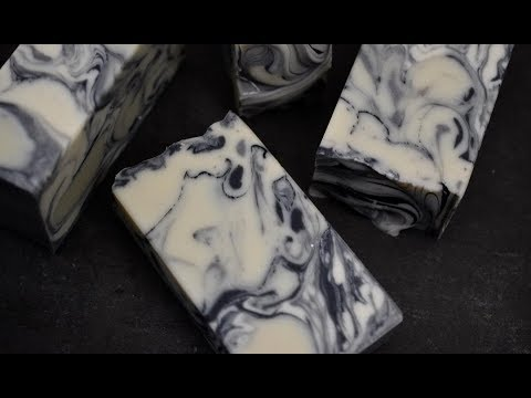 Making and Cutting of Moroccan Mint ~ A Marble cold process handmade soap
