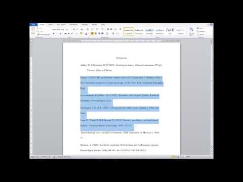 How to format a hanging indent in Microsoft Word