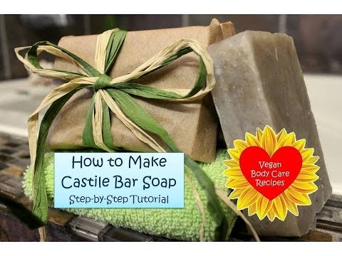How to Make Castile Bar Soap | Step-by-Step Tutorial