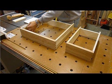 Sheraton Writing Desk - Making the Drawers