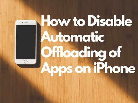 How to Disable Offload Unused Apps on iPhone 2018 (iOS 11)