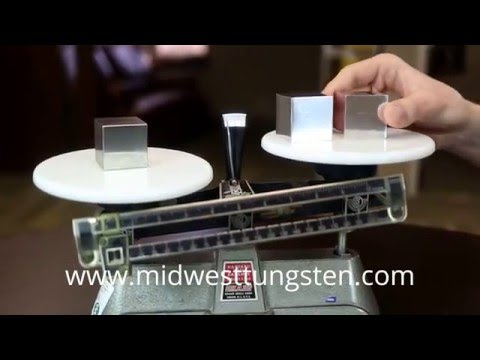 Tungsten vs Aluminum Cubes - Density Check