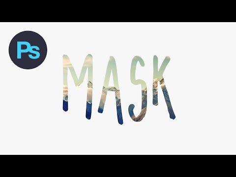 Design a Text Mask Effect Photoshop Tutorial