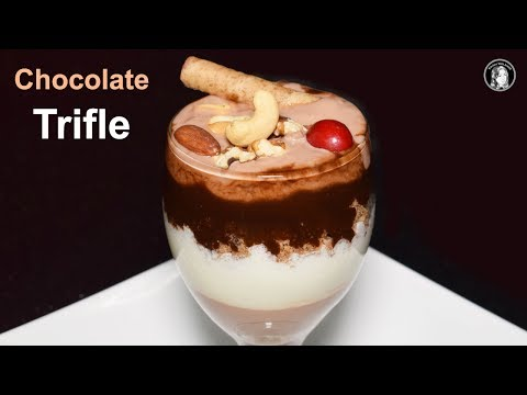 Chocolate Trifle Recipe - How to make Chocolate Custard Trifle - Dessert Recipe