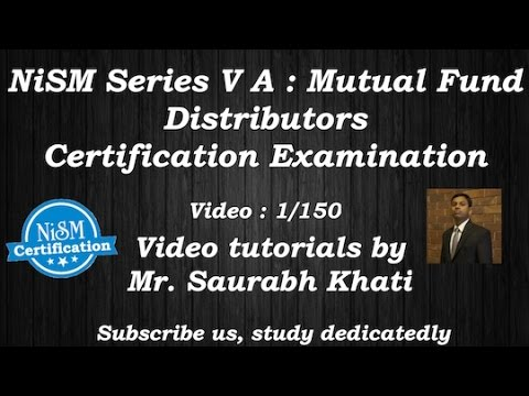 NISM mutual fund exam  tutorial  : Unit 3 - SEBI as a Regulator
