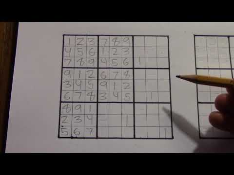 How to create your own a Sudoku Pattern