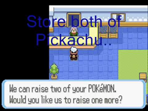 How to get Pichu and Raichu on Pokemon Sapphire...