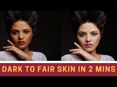 How to change skin color in photoshop cc 2018   editing tutorials in Hindi