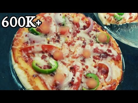 Pizza recipe  without Oven  Pizza On Tawa  instant pizza recipe with ready made base  Homemade Pizza