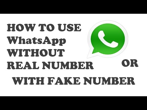How to use WhatsApp with Fake Number - Latest 2017