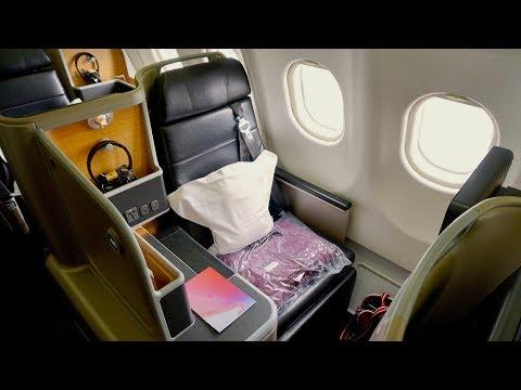 Qantas Business Class Review - Airbus A330 - Auckland to Melbourne.