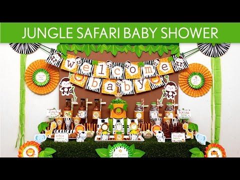 Jungle Safari Baby Shower Party Ideas // Jungle Safari - S50