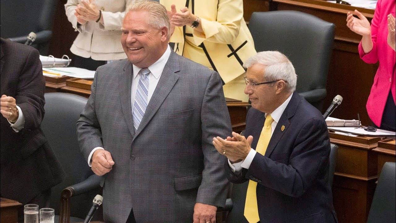 Ontario Premier Doug Ford exchanges barbs with Andrea Horwath in question period