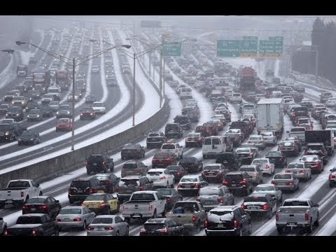3 Inches of Snow Cause 20 Hour Traffic Jams in Atlanta