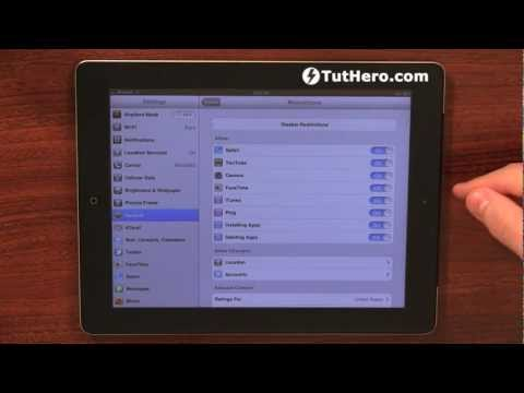iPad Tutorial - How to Reset the Restrictions Password - v1