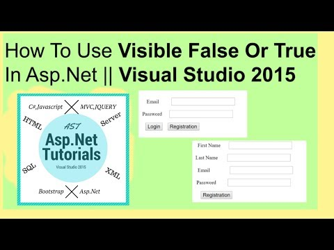 How to use visible false or true in asp.net || visual studio 2015