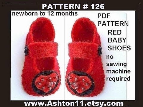 How to make LITTLE FELT BABY SHOES. sewing for beginners
