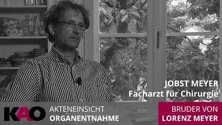 Chirurg Jobst Meyer zur fragwürdigen Hirntoddiagnose bei seinem Bruder. Interview Silvia Matthies