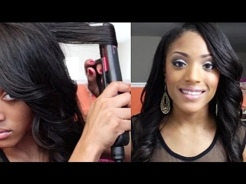 How to Curl your hair with Flat Iron/Straightener