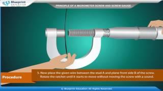 Principle Of Micrometer Screw And Screw Gauge