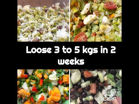 6 Easy Weight Loss Salad Recipes | How to Lose 3 to 5 kgs in 2 weeks | Protein Packed Salads