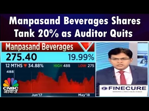Manpasand Beverages Shares Tank 20% as Auditor Quits   Future Express   CNBC Awaaz
