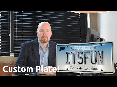 How to Get a Custom License Plate in Connecticut?  How Much Does a Custom License Plate Cost?