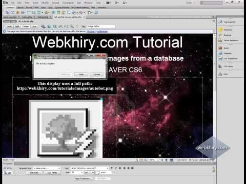 Part 2: How to EASILY Display Dynamic Images on Web Pages Dreamweaver CS6