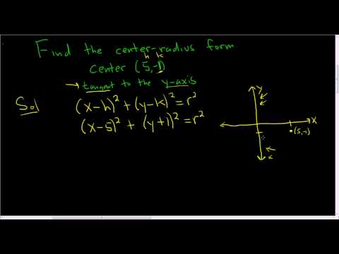 Finding the Center-Radius Form of a Circle given the Center and a Tangent Line
