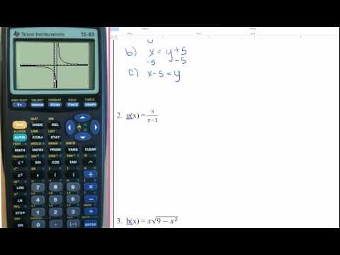 finding inverse functions