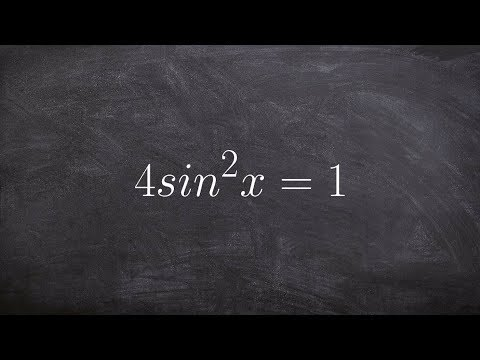 Learn to solve your trigonometric equation with sine squared
