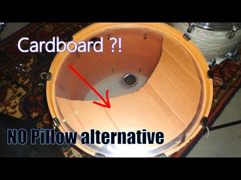 Simple KICK DRUM Muffling Secret with cardboard|how to muffle a bass drum|kick drum muffling|pillow