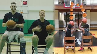 GORDAN HAYWARD INJURED CHAIR SHOOTING BASKETBALL CHALLENGE! LOSER DESTROYS THEIR GAME CONSOLE!