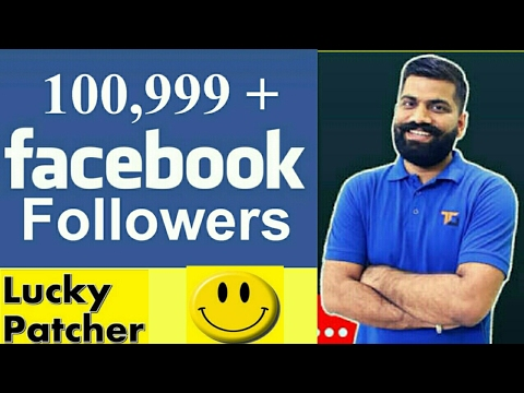 How to use Facebook in lucky patcher and get followers  100% Working