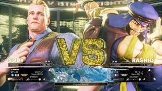 Download Street Fighter V: Arcade Edition Casual Match - SHIMEI (Cody) vs IrregularHunterX (Rashid) Video