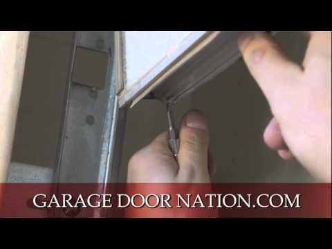 DIY How to Install Garage Door Weather Stripping Seal - Tutorial