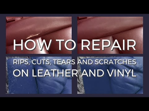 Repair rips, cuts, tears and scratches on leather and vinyl with Coconix Leather Care Pro